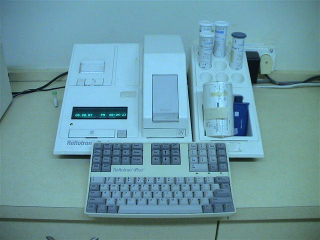 רפלוטרון - לבדיקת מדדים בודדים של כימיה בדם